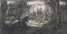 Людмила Томашевская - люди и кони. Рабочие кони.