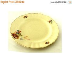 SALE. Mid century ceramic. Floral china. by Underlyingsimplicity