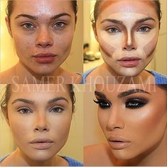 From girl next door to Kardashian lookalike in a flash, thanks to a bit ton of contour.