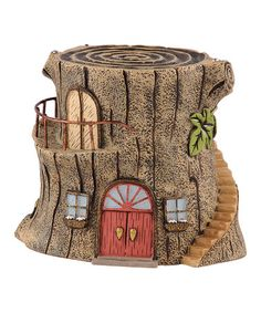 This Stairway Tree Fairy House is perfect! #zulilyfinds