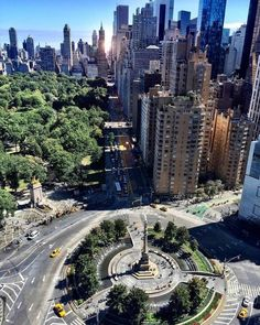 Columbus Circle by @ScottLipps by newyorkcityfeelings.com - The Best Photos and Videos of New York City including the Statue of Liberty Brooklyn Bridge Central Park Empire State Building Chrysler Building and other popular New York places and attractions.