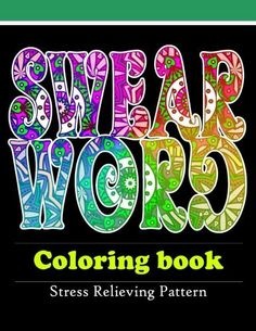 Coloring Book Adult Pages Curse Word Swear