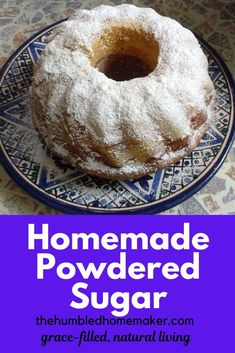 Make your own powdered sugar with this super easy recipe. This healthier version is a time-saver and possibly even cheaper than buying it in the store. It's a win-win! Pasta Recipes, Crockpot Recipes, Real Food Recipes, Homemade Pasta, Homemade Food, Easy Weekday Meals, Easy Meals, How To Read A Recipe, Good Food
