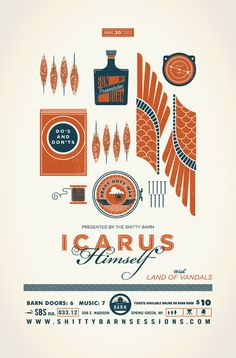 Icarus Himself poster by Alex Perez