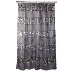 Sinatra Silver Shower Curtain