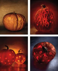 Halloween Clip-Art I have a folder on file filled with dozens of clip-art templates from past issues of Martha Stewart Living and I just finished downloading the most recent Halloween templates from the October issue of Martha Stewart Living. Two stories from the October issue, in particular, feature stunning designs: Nature's Canvas (which features beautiful pumpkin-carving designs) and Irrisistible Ink, which takes the idea of the impermanent tattoo to new heights of imagination.