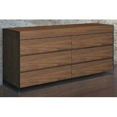 Casabianca Furniture II Vetro 6 Drawer Dresser