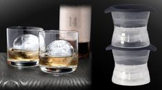 Tovolo Ice Ball Mold - makes large ice spheres to chill whisky without watering it down. $10.95 at Sur la Table.