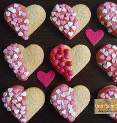Coeurs sablés au chocolat blanc - les meilleures recettes de cuisine d'Ôdélices