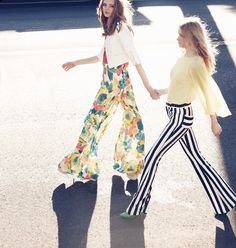 I adore everything by Alice & Olivia-shoes, dresses, pants, tops...I love the print on both of these pants!