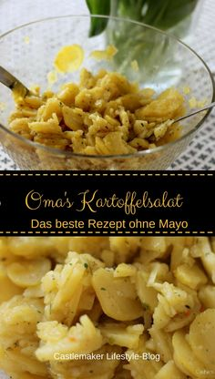 REZEPT - Der beste Kartoffelsalat ohne Mayo Grandma's potato salad is just the best, right? Here I have a delicious recipe for potato salad without mayo - simply delicious. Lettuce Salad Recipes, Paleo Salad Recipes, Arugula Salad Recipes, Fruit Salad, Quinoa Salad, Salad Recipes For Parties, Summer Salad Recipes, Dinner Recipes, Summer Salads