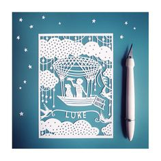 Personalized holiday gifts: Extraordinary papercut art from Sarah Trumbauer that can also be ordered as a very affordable print.