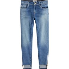 Frame Denim Boyfriend Jeans (4.288.895 IDR) ❤ liked on Polyvore featuring jeans, bottoms, pant, blue, boyfriend jeans, cut off jeans, blue jeans, cutoff jeans and frame jeans