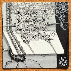 """""""Well"""" ~ a new 'official' tangle of Zentangle by Zentangle founders Rick Roberts and Maria Thomas"""