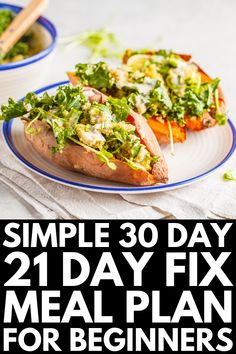 Weight Loss That Works: 30 Days of 21 Day Fix Recipes We Love - Clean Eating Meal Plans - Healthy Recipes Diet Recipes, Vegetarian Recipes, Healthy Recipes, Vegetarian Options, Dessert Recipes, Vegetarian Italian, Breakfast Recipes, Healthy Vegetarian Meal Plan, Fixate Recipes