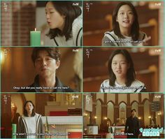 eun tak then summon goblin in church and told now she know how to summon him - Goblin - Episode 1 (Eng Sub)