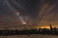 Milky Way over the Tatoosh Range by Greg Schneider on 500px