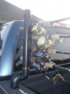 20faeb3acf DIY Truck Bed Fishing Rod Holder - never break a fishing rod in the back of