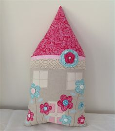 House Cushion, pink, teal, girl, bed, novelty, gift | Red Stitch Designs | madeit.com.au