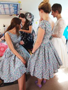 libert tana lawn full skirted dresses http://makemeadress.blogspot.co.uk/2012/12/liberty-bridesmaids-dresses-carolines.html