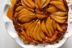 Pear Tarte Tatin--in a cast iron skillet. Looks easy!