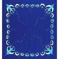 Goddess Altar Cloth-Scarve has the image has the Nile Moon Goddess from Egypt, she is drawing down the energy of the moon