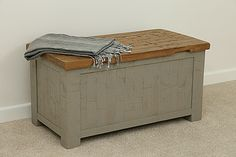 Clermont Painted Rough Sawn Oak Blanket Box | Oak Furniture Land