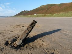 The remains of the Norwegian barque Helvetia are one of the most photographed locations on Gower and as a result the most famous shipwreck in the area.