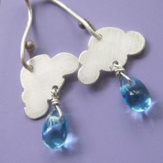 Perfect for Seattle!!! Rainy Day Cloud Earrings by sudlow on Etsy, $45.00