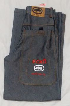 513dd437aa5 Ecko Unltd Men s Jeans Waist W26 Leg 30 Grey Loose Fit Baggy Skater Hip Hop  New  EckoUnltd  HipHop
