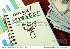 Notebook with angel investor  sign.  Business concept. http://www.manhattanstreetcapital.com/