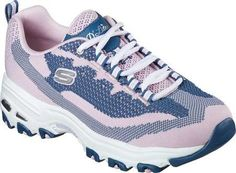 Captivating feel meets a revamped classic style in the SKECHERS D'Lites - Reinvention shoe. Soft flat knit fabric upper in a lace up sporty casual sneaker with stitching accents and Air-Cooled Memory Foam insole. Dc Shoes Women, Skechers D Lites, Walking Shoes, Casual Sneakers, Memory Foam, Classic Style, Pink, Footwear, Zapatos