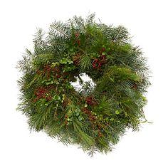 Fir & Rosehip Wreath in Garden+Outdoor PLANTS Wreaths+Garlands at Terrain