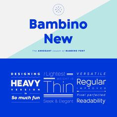 The Bambino New font family from Mindburger Studio is a geometric sans serif with humanist legibility.