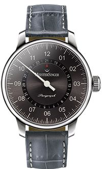 MeisterSinger Watch Perigraph Croco Print Anthracite Watch available to buy online from with free UK delivery. Modern Watches, Elegant Watches, Luxury Watches, Watches For Men, Swiss Watch Brands, Monochrome Watches, Swiss Made Watches, Shops, Hand Watch