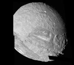 This mosaic of Miranda was obtained by NASA's Voyager 2 during its close flyby of the Uranian moon. Miranda exhibits varied geologic provinc...