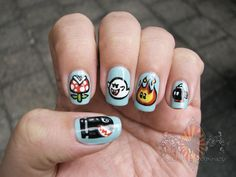 Mario Meanies Manicure Hungry by acidtrix on Craftster.org