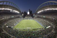 A general view during the match between the San Jose Earthquakes and the Seattle Sounders FC at CenturyLink Field on October 2011 in Seattle, Washington. The Sounders defeated the Earthquakes Soccer Stadium, Football Stadiums, Stadium Tour, Seattle Sounders, Seattle Seahawks, Rose Bowl, San Jose Earthquakes, Centurylink Field, Columbus Crew