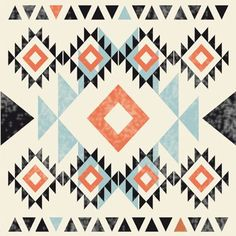 DIY Sharpie-Dollar-Store mugs pattern Motif Navajo, Navajo Pattern, Navajo Print, Quilt Block Patterns, Pattern Blocks, Quilt Blocks, Le Style Navajo, Surfergirl Style, Southwestern Quilts