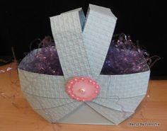 Stamp & Scrap with Frenchie: Weaved Basket one Sheet card stock