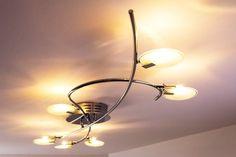 Plafoniera Led Soffitto Design : Led plafoniera lampada da soffitto design salone w metallo