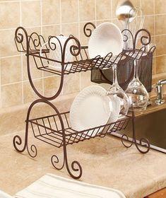 Wrought Iron Dish Rack