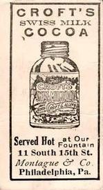 1909 Croft's Candy E92 #25 Fred Jacklitsch Back