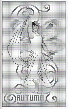 Borduren: Vrouwen ~Jaargetijden 6/9 Autumn 1/2~