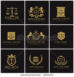 Lawyer logo collection. The judge,law image, Law firm logo, law office logo,lawyer set of vintage labels. full vector logo and easy to edit able.