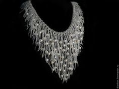 Necklace with pearls | biser.info - all about beads and beaded works