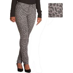 Faded Glory Trend Collection Animal Print Skinny Jeans #fittingroomcontest