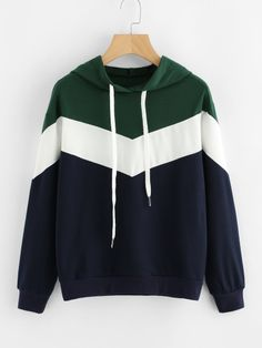 Shop Cut And Sew Color Block Hoodie online. SheIn offers Cut And Sew Color Block Hoodie & more to fit your fashionable needs. Hoodie Sweatshirts, Pullover Hoodie, Cropped Hoodie, Sweater Hoodie, Hoodies, Urban Fashion Trends, Fashion Sale, Teen Fashion, Fashion Outfits