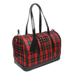 Carrier One Luggage Style Pet Carrier :: Red Plaid. Travel with your pet with this stylish luggage style pet carrier. Tote Purse, Tote Handbags, Designer Dog Carriers, Airline Pet Carrier, Dog Bag, Dog Blanket, Pet Carriers, Dog Crate, Dog Accessories