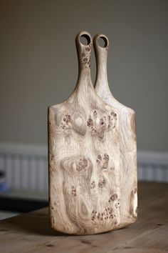 "Knotted wood cutting boards -headandhaft: ""The shape and style of the boards is usually dictated my the piece of wood, highlighting its best features.Everything is hand shaped, and is all fallen, salvaged or off cut timber!….."""